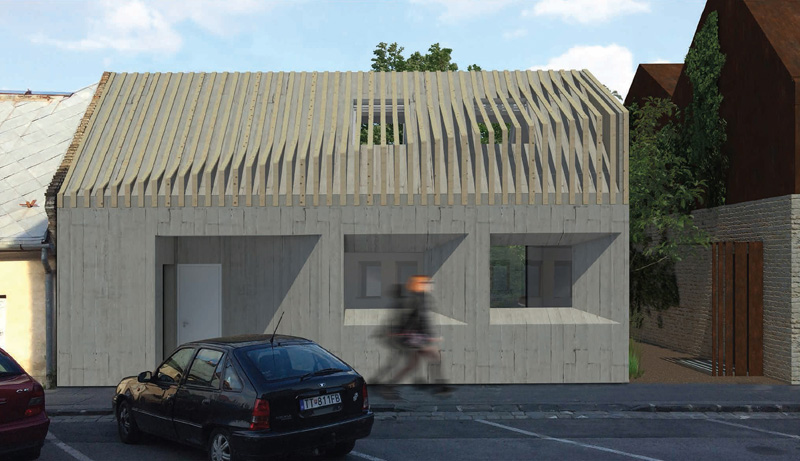 Denis sa pri tomto projekte snažil vniesť do historického jadra modernú  vrstvu architektúry 92c84bdff61